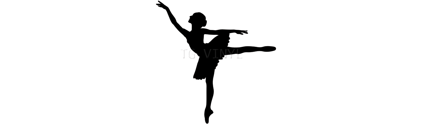 6 ballerina silhouette vinyl decal sticker car window laptop ballet