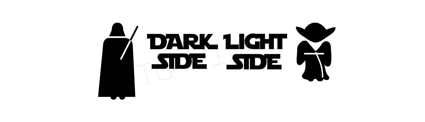 Dark Side Light Side Vinyl Decal Sticker Light Switch Star